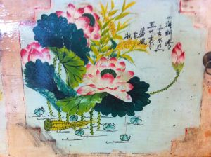 detail on a chinese sideboard